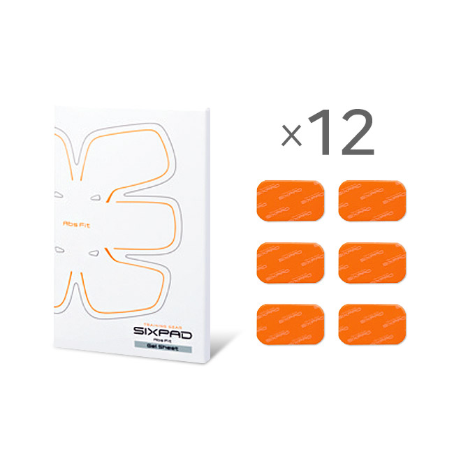 SIXPAD Abs Fit Gel Sheet_12Set