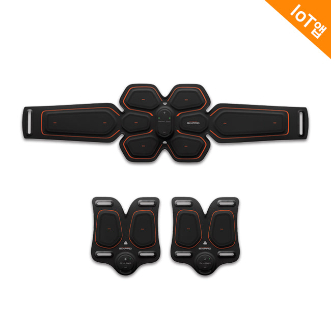 SIXPAD Abs Belt & Twin Arm Set